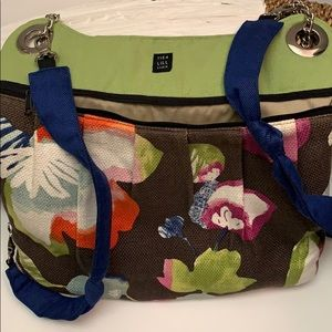 1154 LILL STUDIO BACKPACK Brown Green Floral
